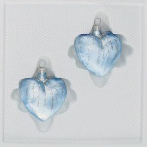 Ice Blau Silber Regen