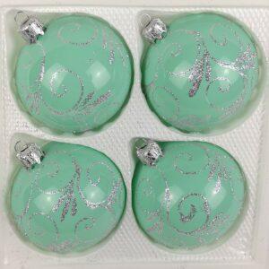 Hochglanz Modern Mint Silberne Ornamente