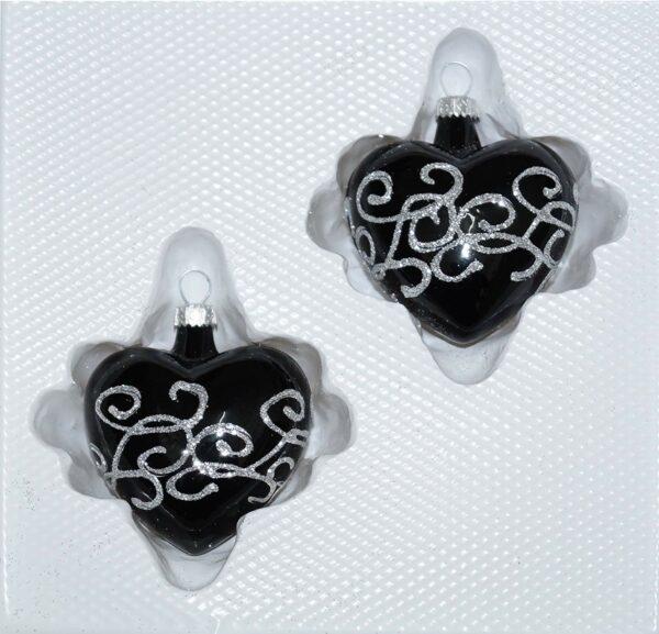 Hochglanz Schwarz Silberne Ornamente