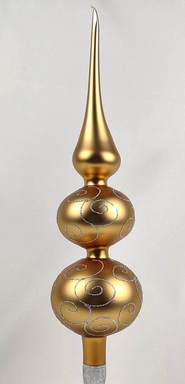 Weihnachtsbaumspitze Classic Gold Silberne Ornamente