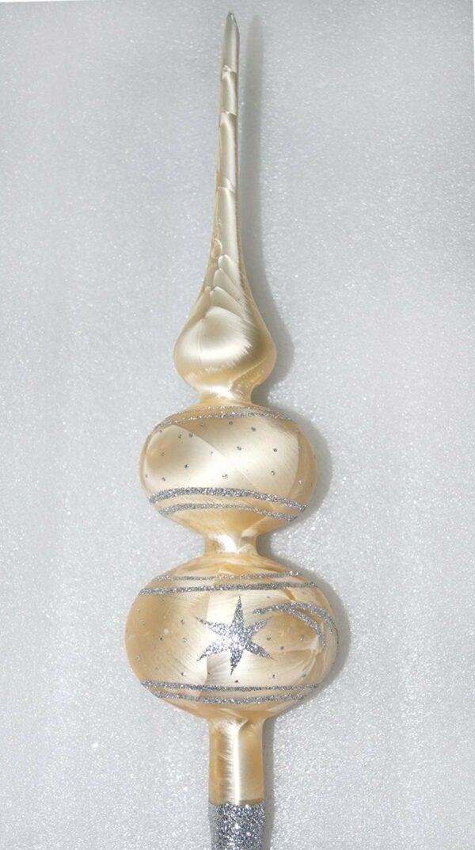 Weihnachtsbaumspitze Ice Champagner Silber Komet
