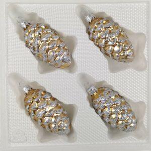 Tannenzapfen Classic Gold Silber