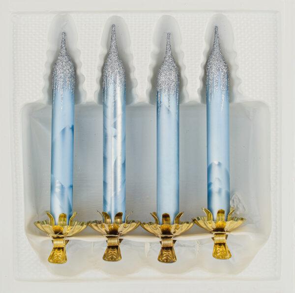 Glas Kerze,Baumkerze aus Glas mit Clip, Christbaumschmuck Kerze,Christbaumkerze, Glaskerze, Vintage,Reflexkugeln,Vintage Baumschmuck, Christbaumkugeln aus Echtglas, Echtglas Tannenbaumkerze,