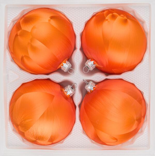 4 teiliges Christbaumkugeln Ice Blau Blue 8cm durchmesser Eislack Weihnachtskugeln Christmasballs Christmas baubles