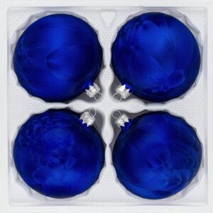 4 teiliges Christbaumkugeln Ice Schwarz 8cm durchmesser Eislack Weihnachtskugeln Christmasballs Christmas baubles