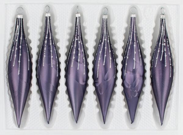 6 teiliges Glas Zapfen Set Ice Graphit