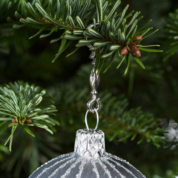 """60 Stück Weihnachtskugeln Haken """"Chrom Silber Candy"""" Aufhänger Christbaumkugel Anhänger"""
