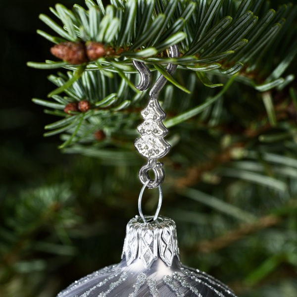 "60 Stück Weihnachtskugeln Haken ""Chrom Silber Tannenbaum"" Aufhänger Christbaumkugel Anhänger"