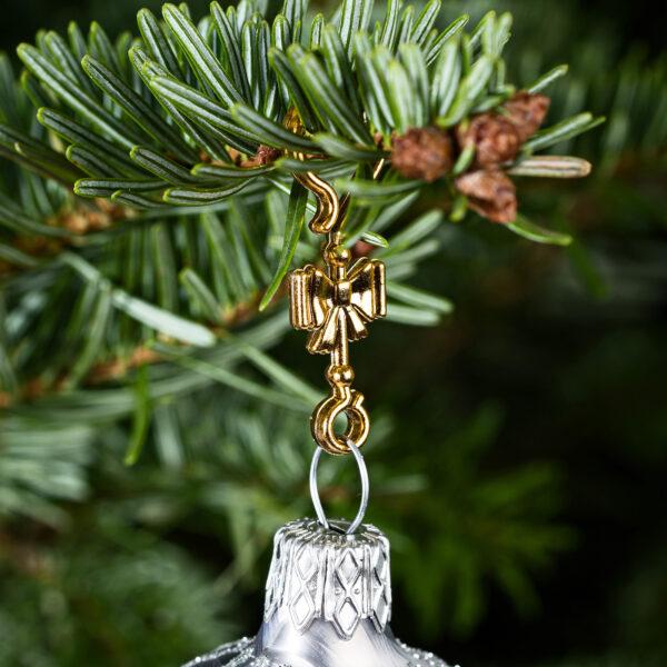 "60 Stück Weihnachtskugeln Haken ""Goldene Schleife"" Aufhänger Christbaumkugel Anhänger"