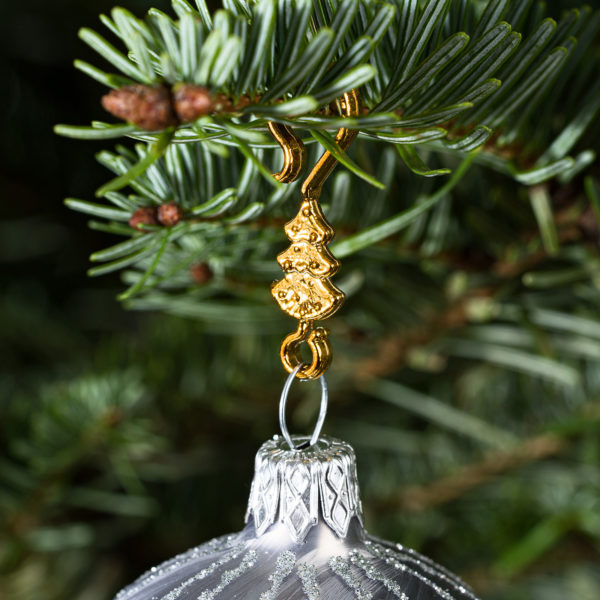 "60 Stück Weihnachtskugeln Haken ""Goldener Tannenbaum"" Aufhänger Christbaumkugel Anhänger"